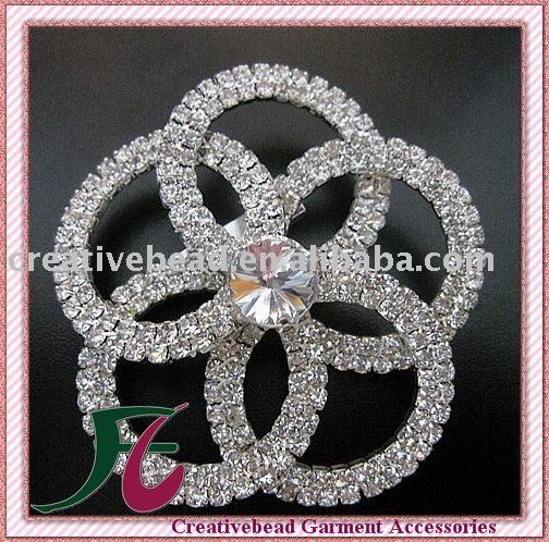free shipping!high quality flower rhinestone brooch pins 75*75mm(China (Mainland))
