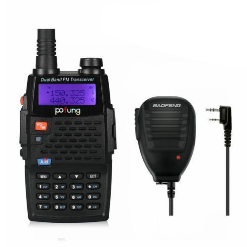 Baofeng BF-F9+TP Two-Way Radio, Dual Band UHF/VHF Ham 136-174/400-520MHz Tri-Power 1/4/8W + Original Remote Speaker(China (Mainland))
