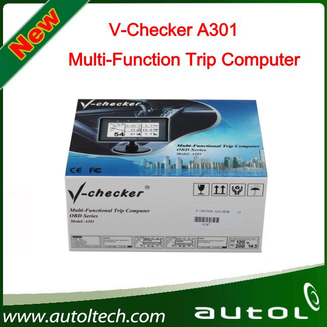 2016 Professional V-CHECKER A301 Multi-Function Trip Computer VCHECKER A301 OBD2 Car Trip Computer Free Shipping(China (Mainland))