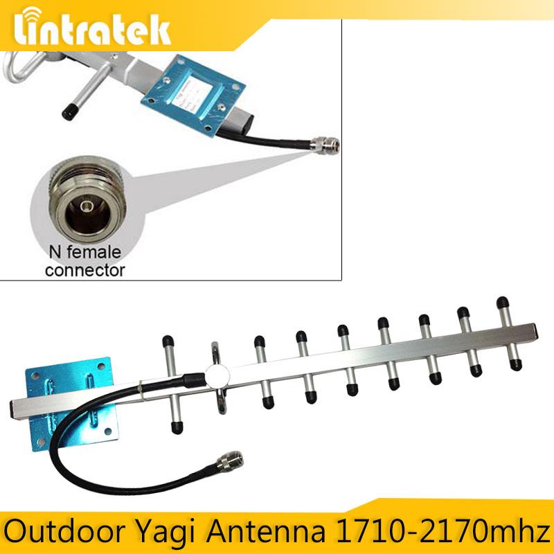 Outdoor Yagi Antenna 1710-2170mhz GSM 1800mhz 1900mhz 3G Mobile Phone Signal Antenna 8dBi External Cellphone Direction Antenna(China (Mainland))