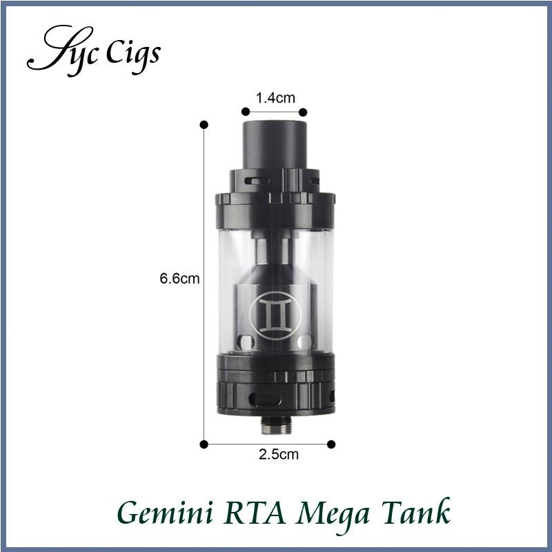 Original Vaporesso Gemini Mega RTA Tank 4.0ML with 17mm Build Deck Electronic Cigarette Vaporizer Gemini RTA Mega Atomizer