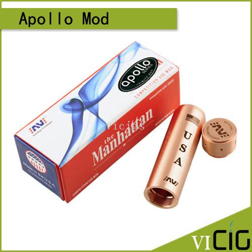 Hottest Apollo Mod Aluminum E Cigarette Mechanical  Mod suit 18650 apollo Mahattan mod for RBA RDA<br><br>Aliexpress