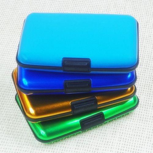 Pocket Business ID Credit Cards Wallet Holder Case Box Aluminum Metal Waterproof(China (Mainland))