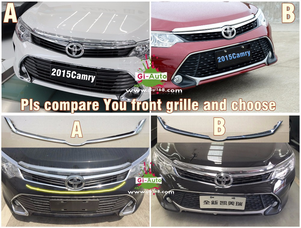Gi-Auto Design for Toyota 2015 new Camry  abs chrome upon front grille cover logo beside trim decoration 1p     free ship(China (Mainland))