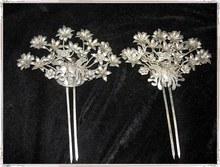 Butterfly Love Flower TV Play BuBuJingXin Handmade Antique Pinach Artwork Hanfu Accessory Women's Hair Stick