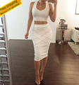 2015 fashion set women two piece outfits skirt crop top and skirts set causal sexy ensemble