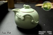 9pcs Rare China Song Ding Kiln Porcelain Tea Set Chinese Ding Yao Sky Cyan Teapot Justice
