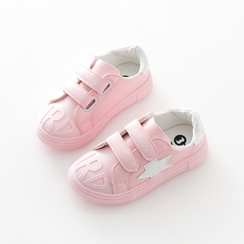 2016 new autumn children pu leather shoes kids brand white sneakers for baby girls running sneakers boys black sneakers flats(China (Mainland))