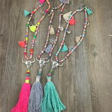 New Arrived Bohemian style Nepal Ethnic Wood Feather Tassel Pendant Long Necklace Lady for Dress(China (Mainland))