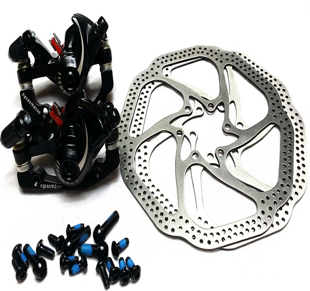new Line Pulling Disc Brake+HS1 disc brake sets, mountain-bike-disc-brake clipers+2 HS1 disc rotors bike brake bicycle parts