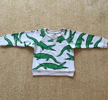 2015 Mini Rodini Boys Girls Sweatshirts Cotton Long Sleeve Crorodile Print 18m-6y Kids Jackets Children Hoodies Sweatshirt FA032(China (Mainland))