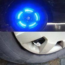 1 Pair Universal Car Tire Tyre Wheel LED Valve Cap Stem Lights Lighting Blue Decoration New Bike Motorcycle Car Styling(China (Mainland))
