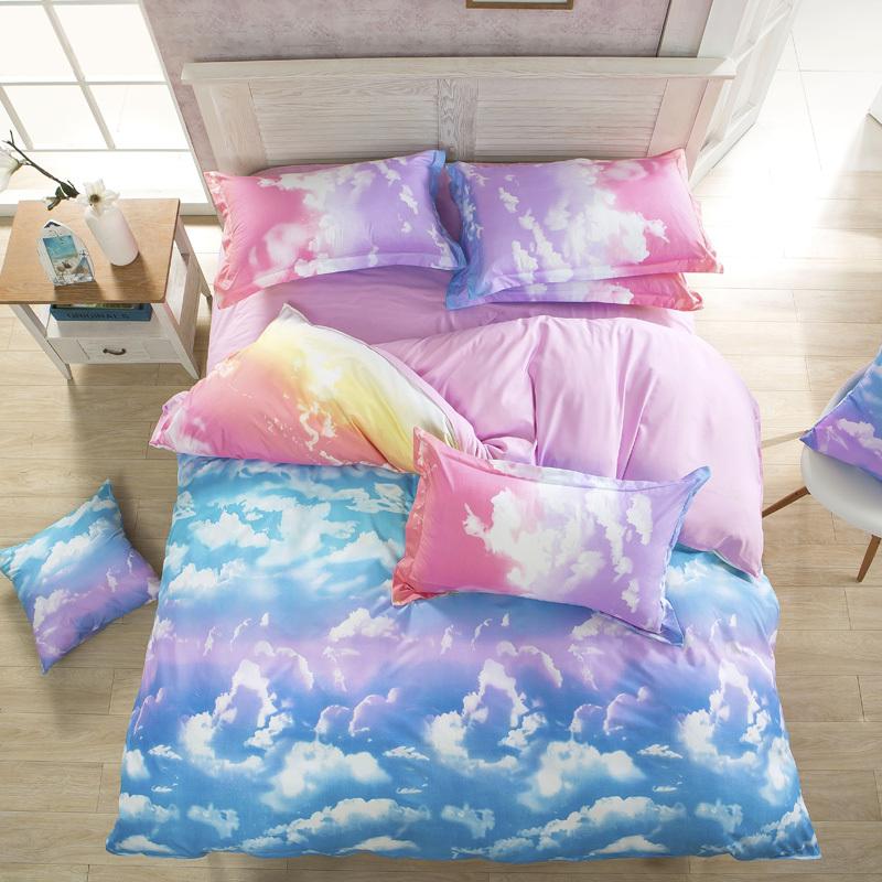 wholesale 3d bedding set summer colorful cloud designer bedding sets