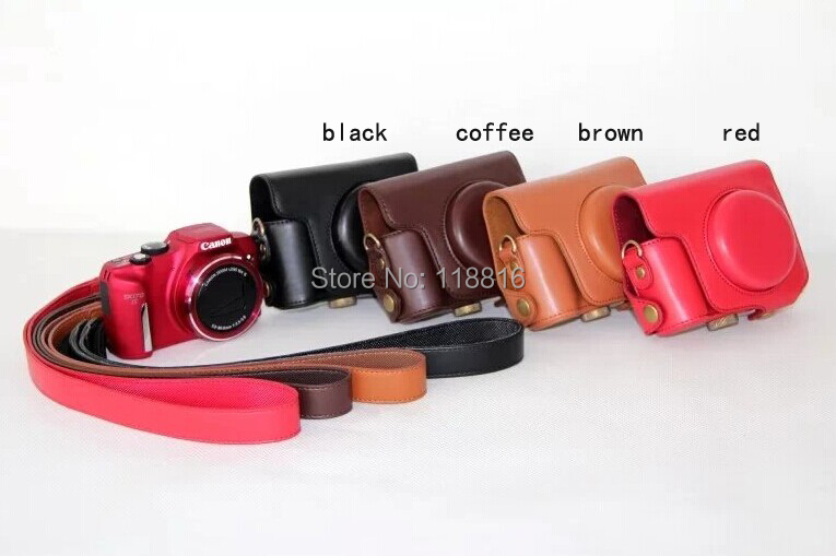 Camera Leather case bag cover pouch Canon Powershot SX170 SX170IS SX130 SX150 SX160 Digital - VIVIANTEAM GO Co., LTD store