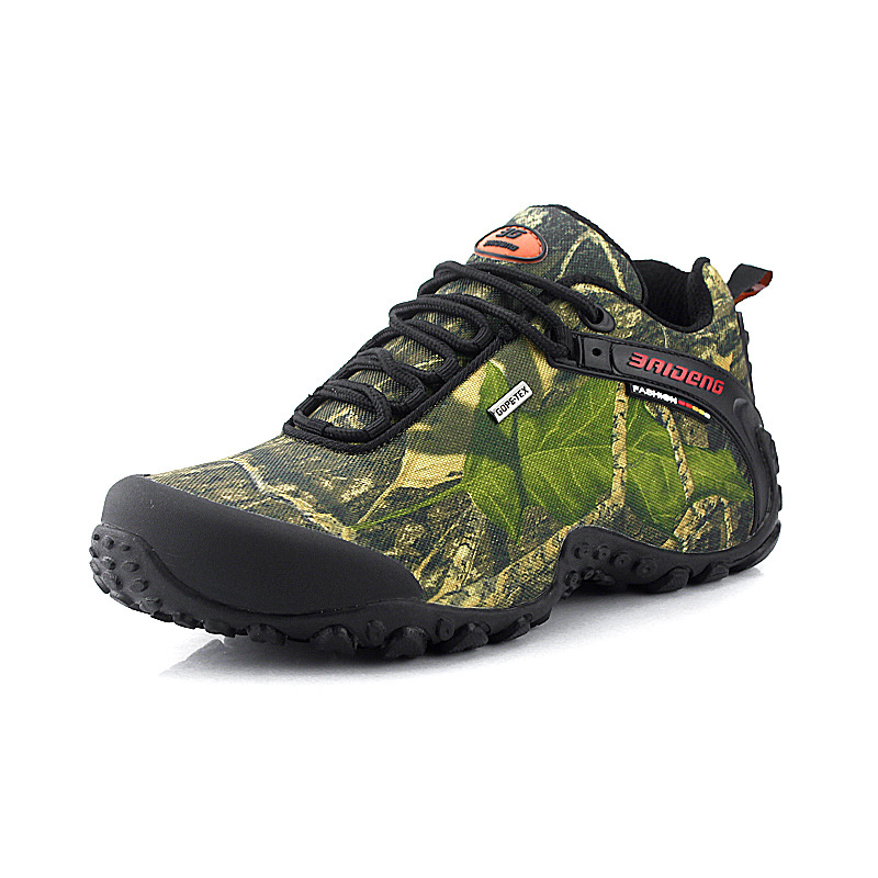 2015 New fashion waterproof canvas hiking shoes boots Anti-skid Wear resistant breathable fishing shoes climbing high shoes