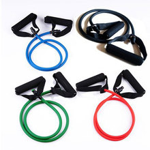 Hot Selling Yoga Tube Body Natural Latex Exercise Elastic Training Pull Rope Fitness Resistance Bands Yoga Workout Cordage