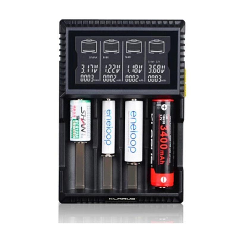 KLARUS CH4S LCD charger Li-ion 26650 18650 16340 14500 10440 (RCR123A) and Ni-MH/Ni-Cd AA AAA AAAA C charger VC4(China (Mainland))
