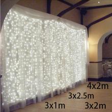 3x1/3x2/4x2m leds icicle led curtain fairy string light led Christmas light fairy light Wedding home garden party decoration(China (Mainland))