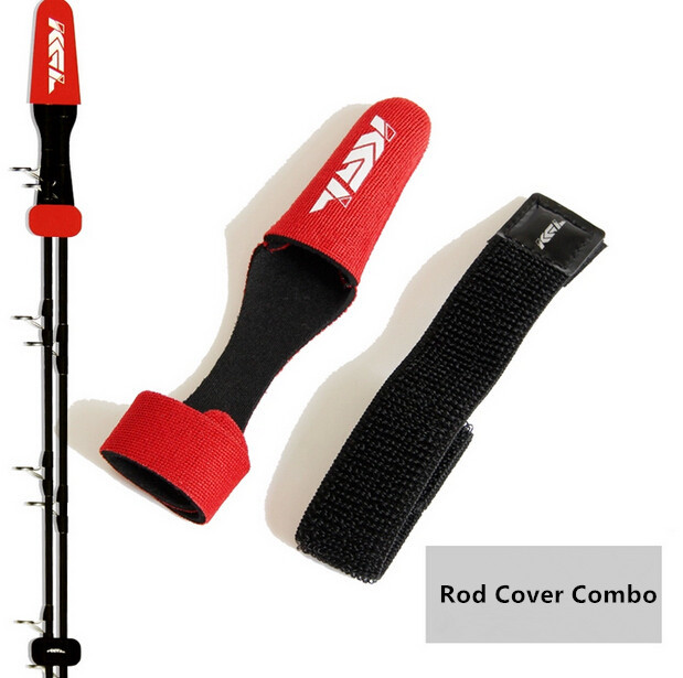 Free shipping expandable casting fishing rod covers rod for Fishing pole sleeves