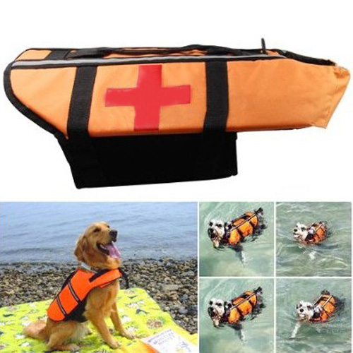 Boutique New Pet Dog Float Life Saver Preserver Safe Swimming Life Jacket Vest Size M(China (Mainland))