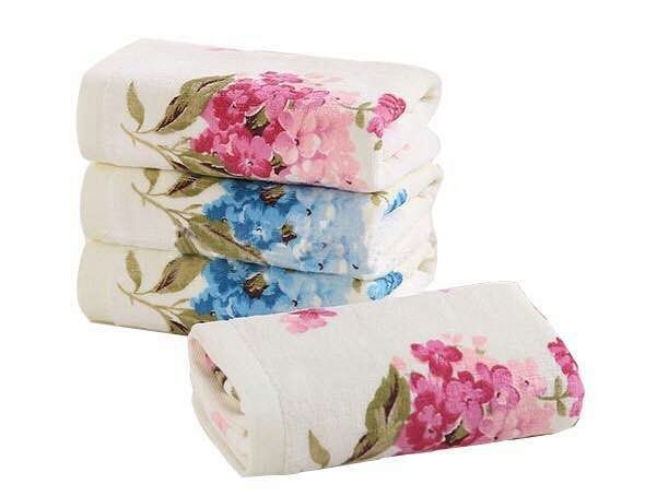 33*72cm 4PCS High Quality Floral Cotton Face Towels Sets, Designer Flower Terry Face Towels,Bathroom Facial Hand Face Towels Set(China (Mainland))