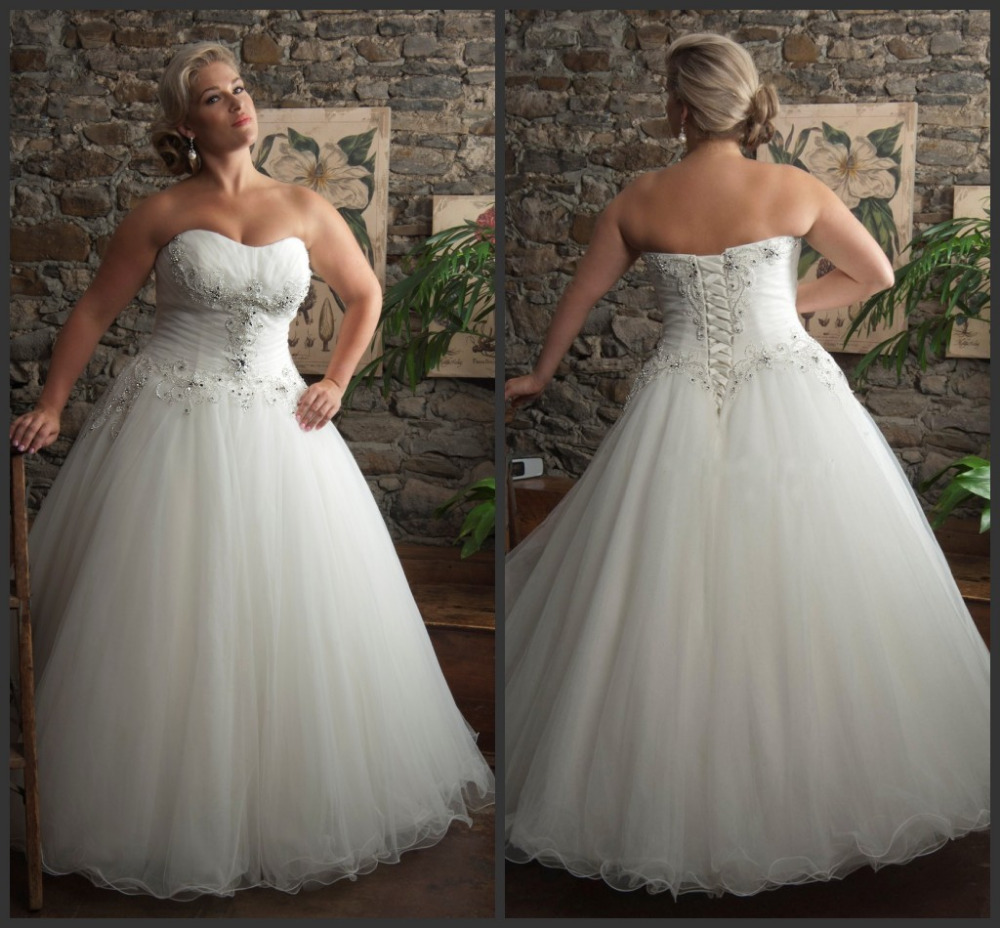 Wedding Gown Lace Up Back : Sequins lace up back women bridal gown tulle plus size wedding dress