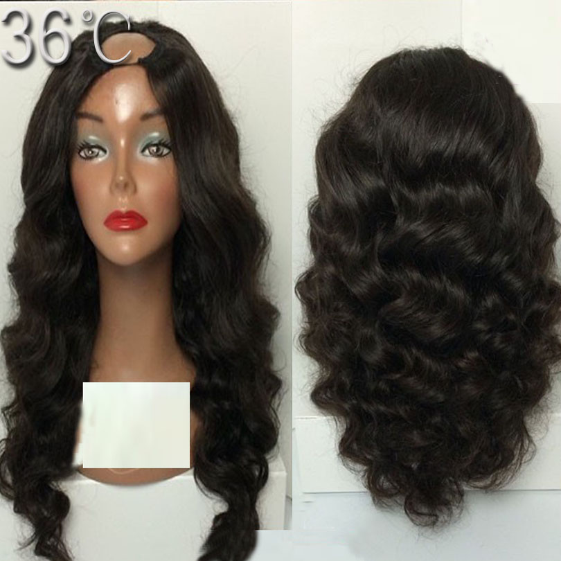 U part wigs Brazilian body wave u part wigs virgin human hair u part wig left/middle/right part ,cheap u part wigs for sale