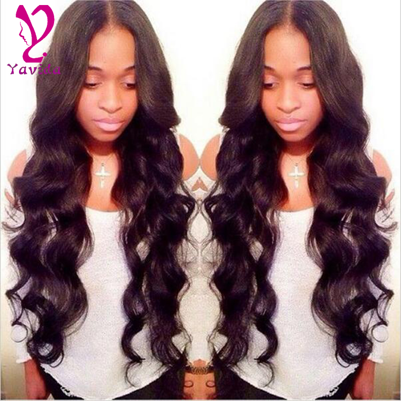 Peruvian virgin hair body wave 2bundles #1B unprocessed Human hair weaves free shipping accept paypal Cheap Peruvian body wave(China (Mainland))