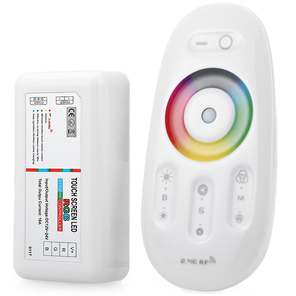 2016 New Arrival DC 12-24V 18A 2.4G Wireless Touch Screen RGB RF Remote Controller Wireless Transmission 30 Meter RGB Controller(China (Mainland))