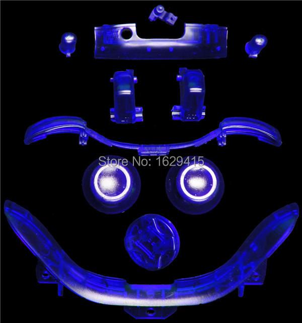 IVY QUEEN Custom Transparent Clear Blue Buttons Mod Kit For Xbox 360 Controller Thumbstick Dpad RT LT Start Back Button Set<br><br>Aliexpress