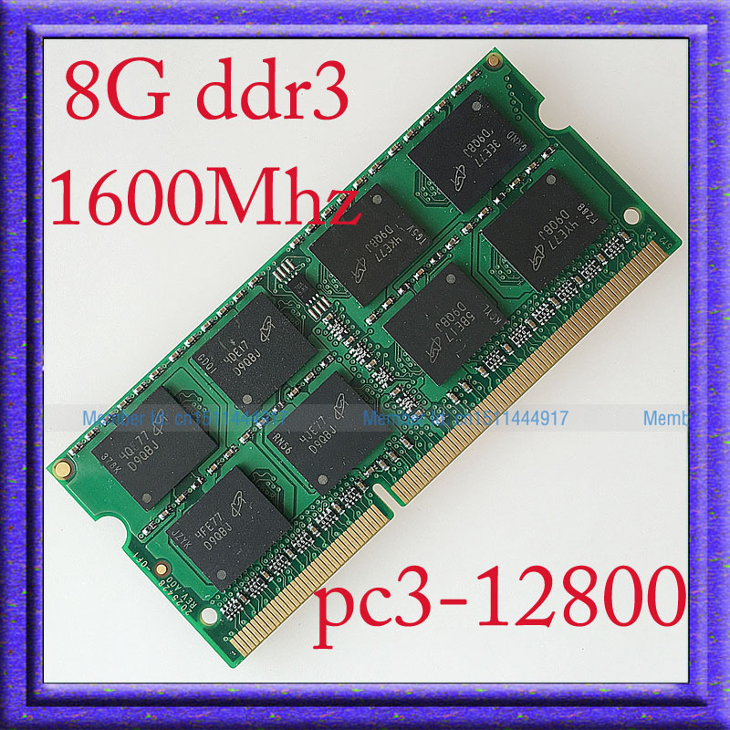 Fully Test 8GB PC3-12800 DDR3-1600 DDR3 1600MHZ 8G Laptop Memory 204PIN sodimm 1600 204-pin Notebook RAM Upgrade Free Shipping<br><br>Aliexpress