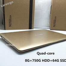 8GB RAM & 64GB SSD 750G HDD Quad Core Laptop Computer Notebook 14 Inch 1600*900 Screen Bluetooth WIFI HDMI Webcam Windows7(China (Mainland))