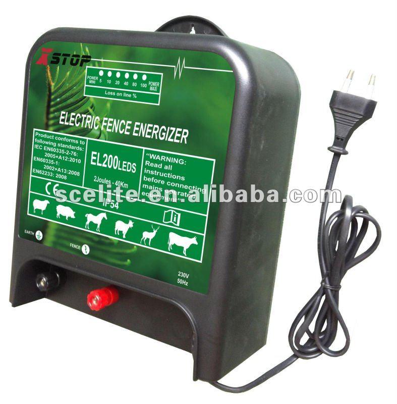 AC 230V ELECTRONIC FENCE ENERGIZER 2 JOULES(China (Mainland))