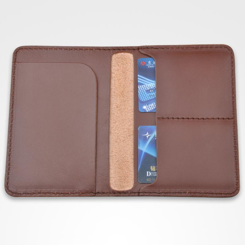 Original double header layer of leather passport holder passport handmade leather passport cover documents package(China (Mainland))