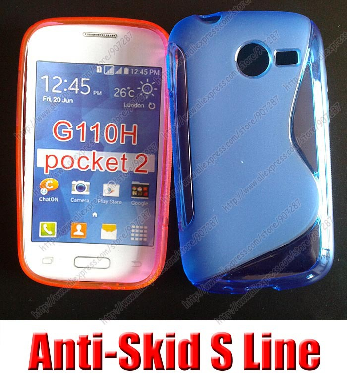 cell phones Bag s line gel case,high quality,silicone case cover,free shipping,For Samsung Galaxy Pocket 2 G110H G110 Duos(China (Mainland))