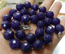 New Fashion Girl 10mm Faceted shape Amethyst Jasper beads necklace 18'' A++  H0024(China (Mainland))