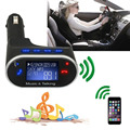 LCD Car Kit Bluetooth MP3 Player SD MMC USB FM Transmitter Modulator w Remote