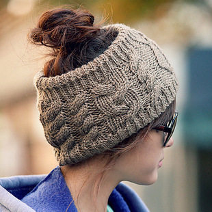 New 2015 Fashion Empty Hat for Women Headwear Designer Head Wraps Crochet Twist Flower Elastic Headbands Hair accessories