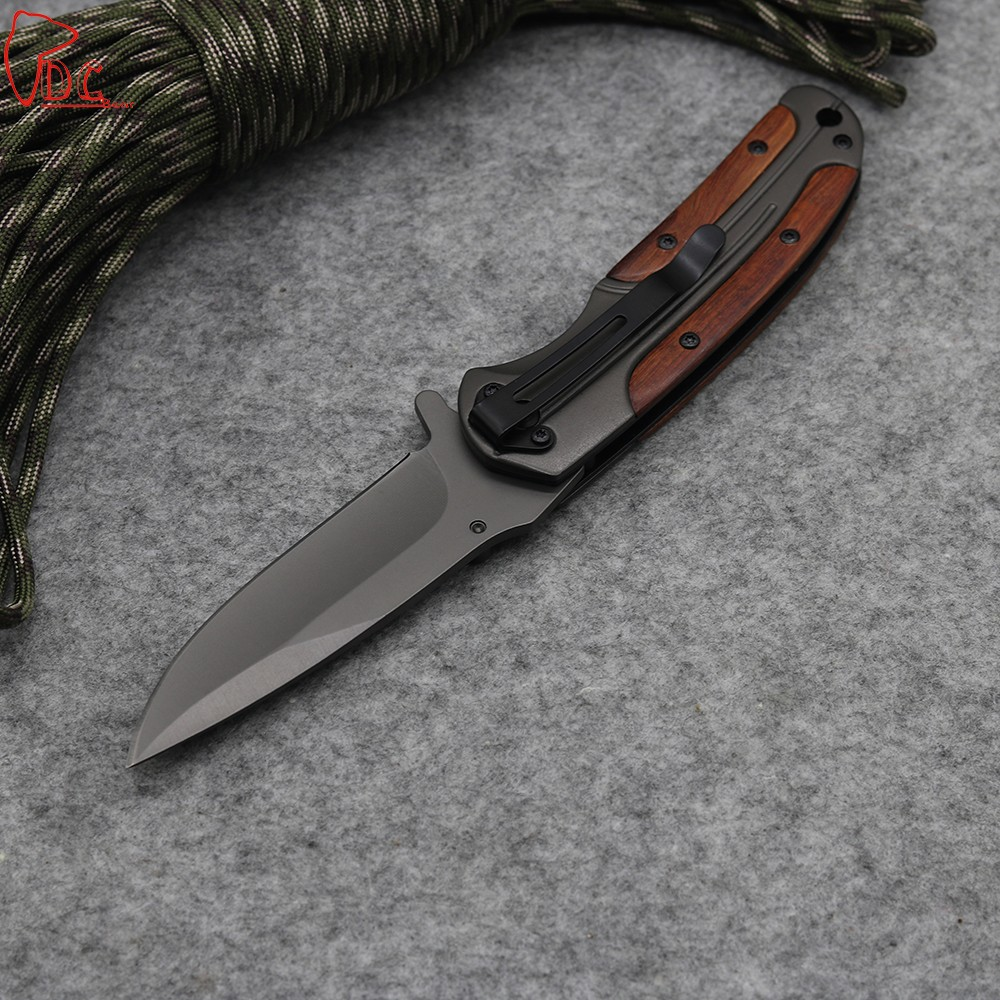 Buy Dcbear DA43 Folding Knife 440C Steel Hunting Survival Tools with Hardness 57HRC Tactical Knife Titanium Blade cheap