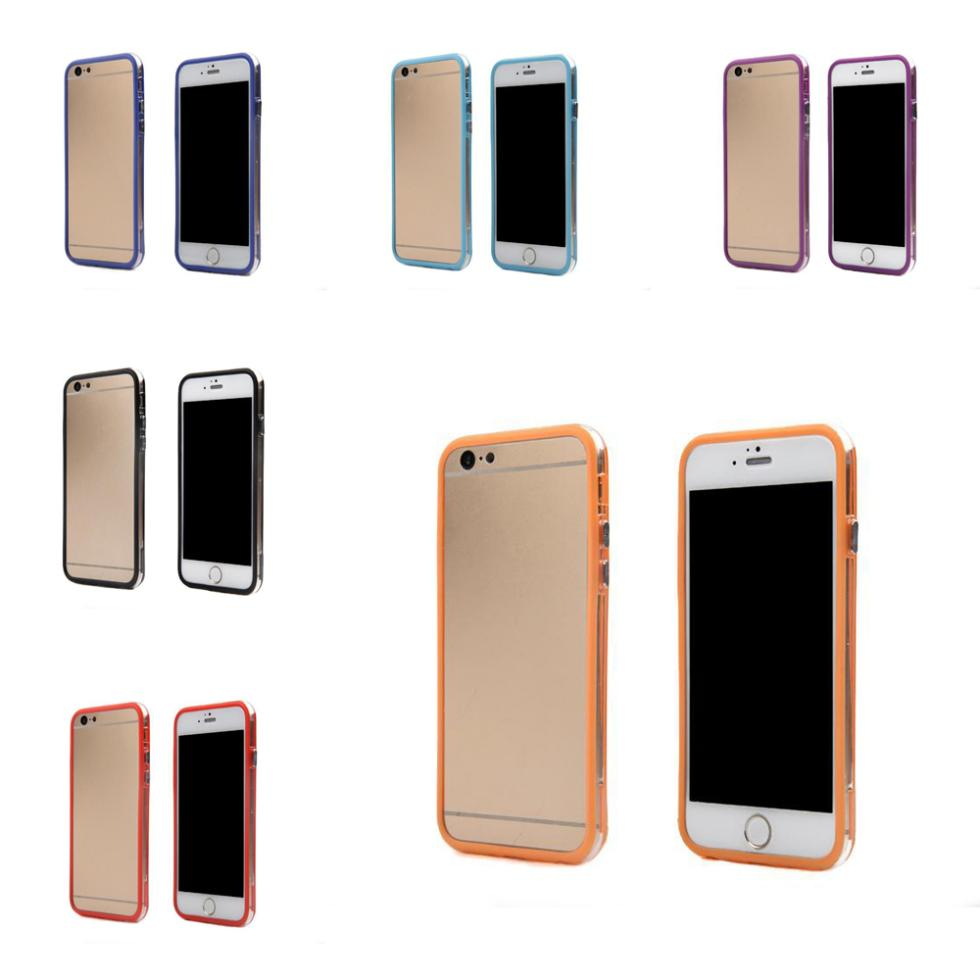 """Free Shipping Clear Silicone Bumper Frame Metal Buttons for Apple 5.5"""" for iPhone 6 Plus(China (Mainland))"""