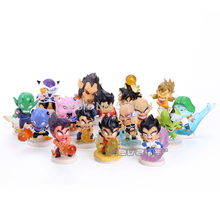 Anime Dragon Ball Z Goku Vegeta Gohan BAK Kuririn PVC Figure Toys 16pcs/set DBFG004
