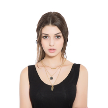 Buy Fashion Jewelry Simple Multilayer Gold Necklace Leaves Alloy Pendant Crystal Long Strip Collar Jewelry Choker Women Gift for $6.40 in AliExpress store