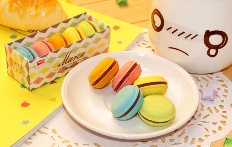 5X Kawaii Cake Macaron Rubber Eraser Material escolar borracha Kid Student Rewarding Birthday Gift School Supplies Stationery(China (Mainland))