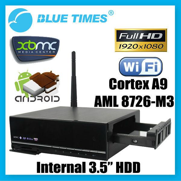 Bluetimes 3548M3 Android HD 1080p XBMC Media Center HDMI WiFi Player Mini PC TV Box HTPC IPTV AMLogic 8726 M3 Free Shipping