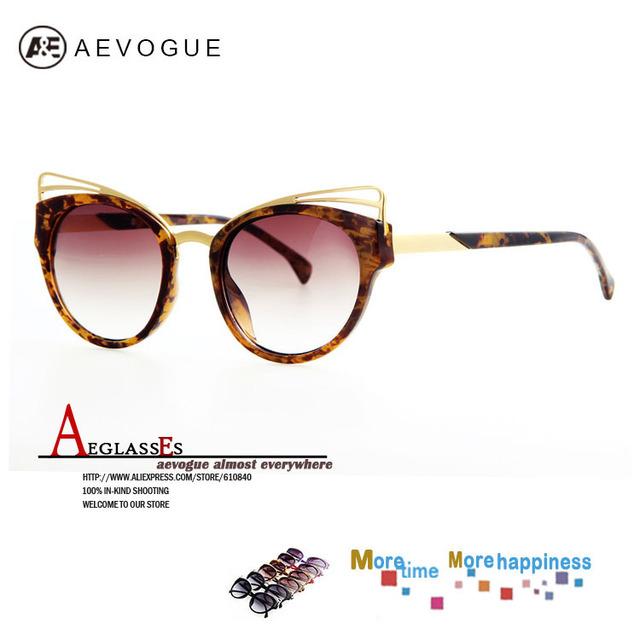 Aevogue оптовая продажа кошачий глаз бренд sol солнцезащитные очки женщин горячая распродажа металлический каркас зеркало волоконно-оптический старинные солнечные очки UV400 AE0183