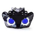 KT Headlight for Honda CBR500R 2013 2015 LED Angel Eye Blue Demon Eye Motorcycle HID Projector