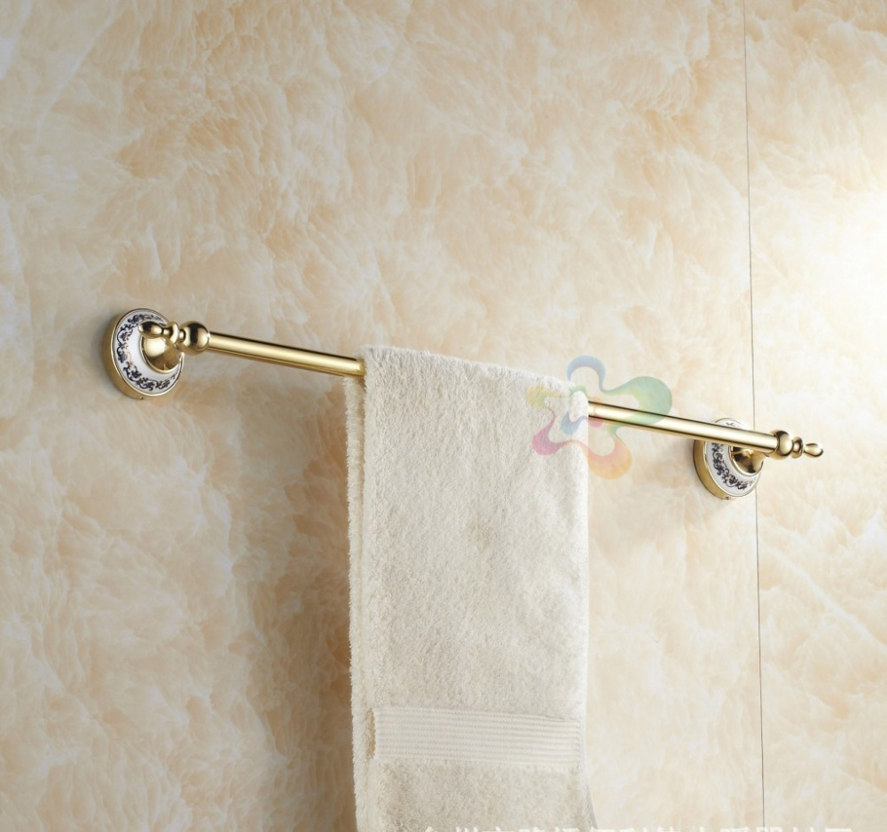 2014 NEW Towel bar towel rack gilded single rod towel bar antique metal pendant free shipping(China (Mainland))