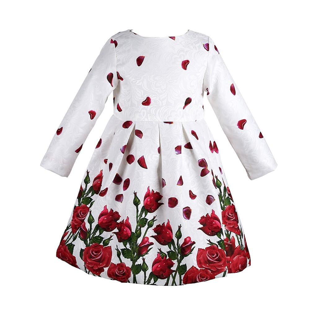Платье с длинным рукавом 2015 для девочек фото