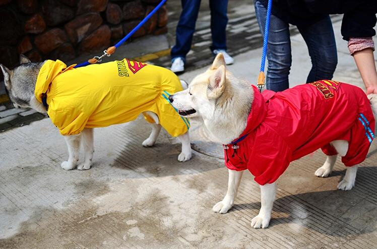 0678-2 2XL-7XL Large Dog Raincoat Waterproof Rain Jackets For Big Dog Golden Retriever Samoyed Dog Clothes 1PC(China (Mainland))