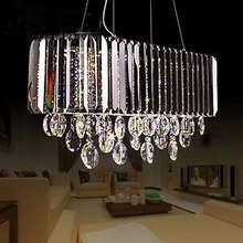 Modern Luxury Garden Oval Chandelier Living Room Ceiling Chandelier Bar Restaurant Deocrative LED Oval Crystal Chandelier(China (Mainland))